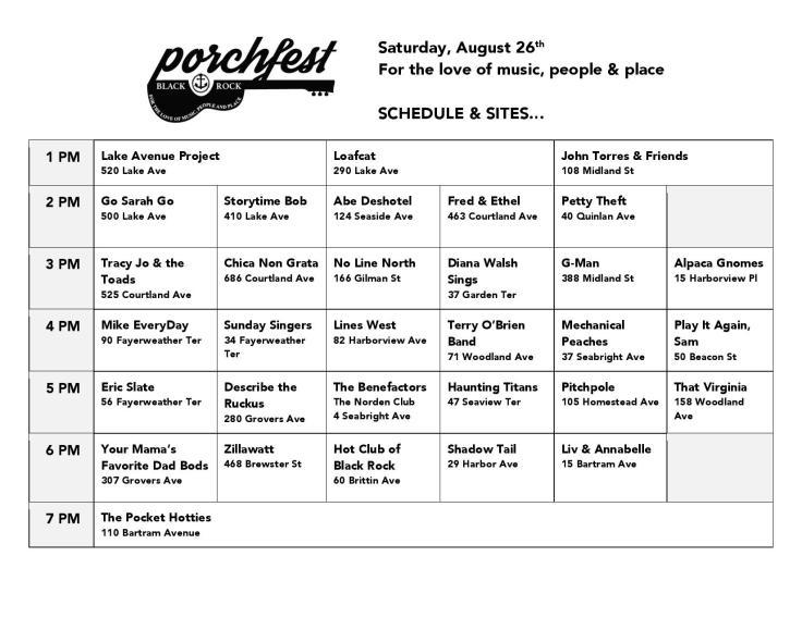 BR PorchFest 8-26-17 Schedule